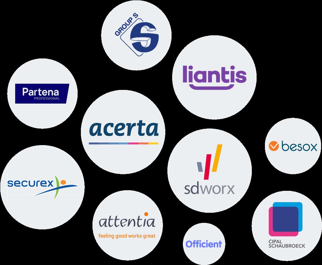 Logo's van sociale secretariaten België