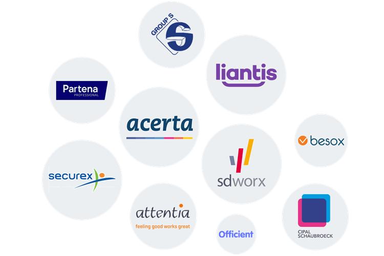 Logo's van sociale secretariaten Vlaanderen